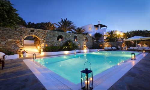 Mykonos, Greece.  Property and Model released.